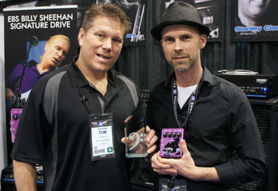 "EBS was honored with a ""Best In Show"" award from Bass Gear Magazine, here presented to Ralf by editor Tom Bowlus."