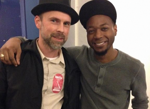 Ralf from EBS with Jamareo after the Stockholm show.