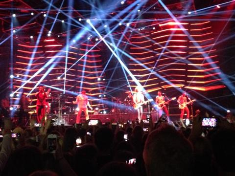 The Hooligans on stage with Bruno in Stockholm