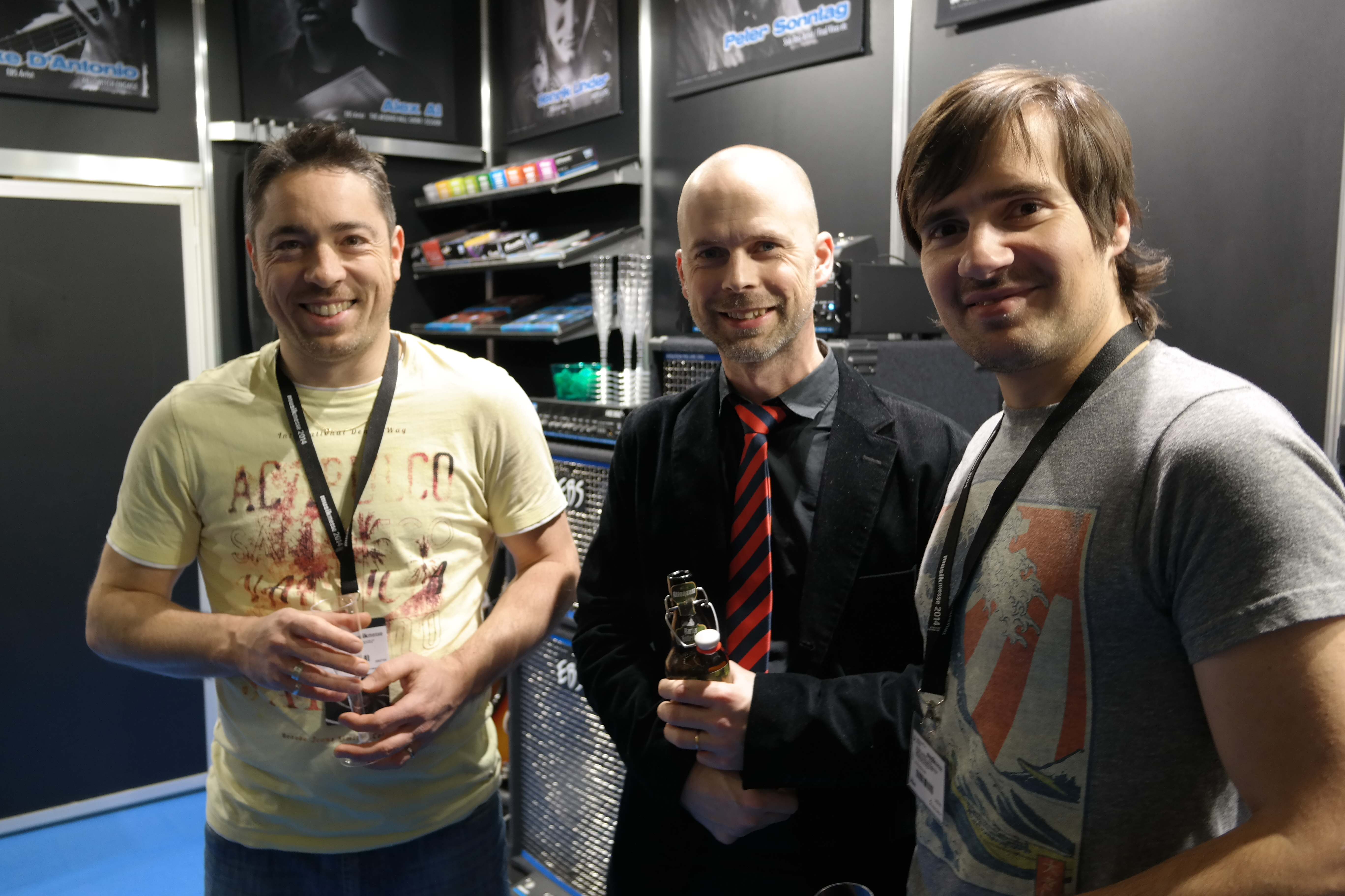 Julien and Nicolas from EBS new distributor Filling Distribution, France, with Ralf (in the middle) from EBS.