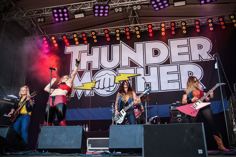 Thundermother is a new all female rock band that there's a great buzz around. Photo: Daniel Falk.